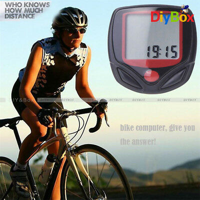 Bike Bicycle Cycling LCD Computer Odometer Speed Speedometer Waterproof D