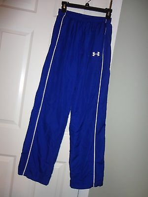Under Armour Boys Youth Blue Athletic Track Pants  Size Md
