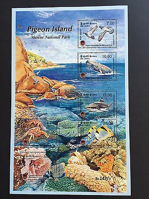 "Sri Lanka Nature Stamps S/Sheets ""PIGEON ISLAND"" Marine National Park."