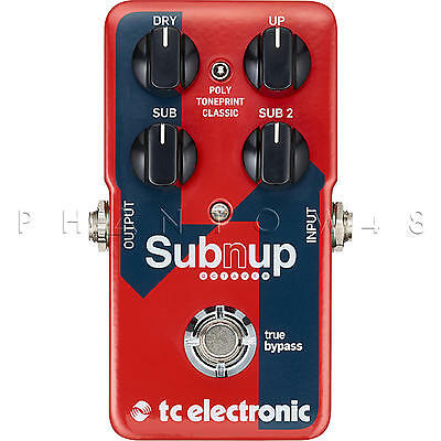 TC Electronic Sub 'N' Up Octaver Octave Guitar Effects Pedal - Brand NEW