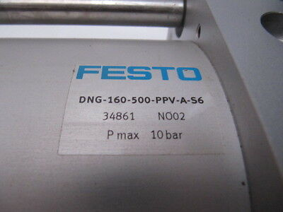 (NEW) Festo Pneumatic Cylinder DNG-160-500-PPV-A-S6  34861 NO02
