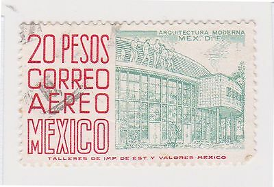(MCO-340) 1950 Mexico 20p green & red (A)