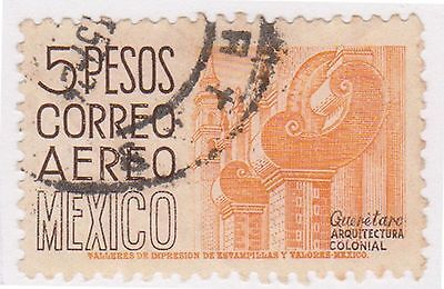 (MCO-332) 1950 Mexico 5p orange & brown (C)