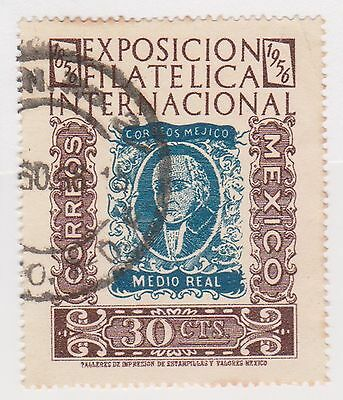 (MCO-357) 1956 Mexico 30c blue & brown stamp EXPO
