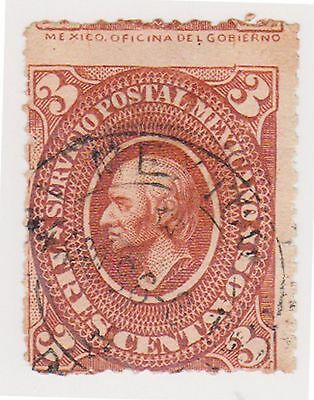(MCO-29) 1884 Mexico 3c brown HILDARGO