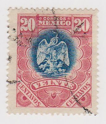 (MCO-96) 1899 Mexico 20c blue & red