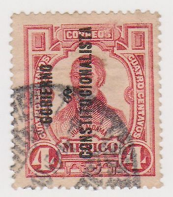 (MCO-104) 1910 Mexico 4c red J. ALDAMA with O/P