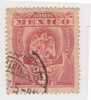 (MCO-74) 1899 Mexico 2c red