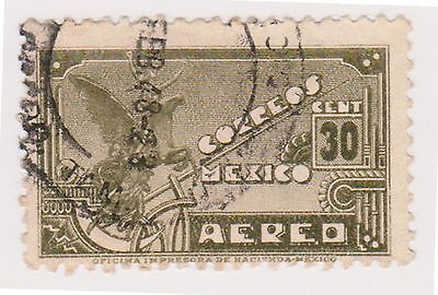 (MCO-212) 1934 Mexico 30c green independence monument (B)