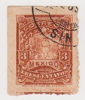 (MCO-57) 1895 Mexico 3c brown post man (A)
