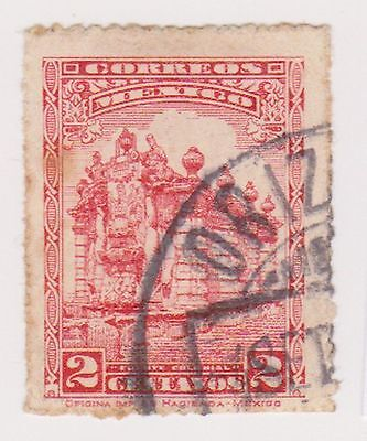 (MCO-149) 1923 Mexico 2c red Fountain (A)