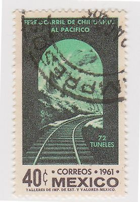 (MCO-372) 1961 Mexico 40c state railway (A)