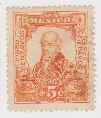 (MCO-110) 1910 Mexico 5c orange HILDARGO (C)
