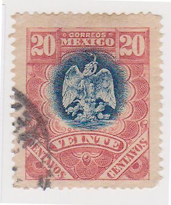 (MCO-130) 1910 Mexico 20c blue & red
