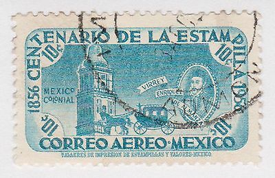(MCO-355) 1956 Mexico 10c blue bell tower (B)
