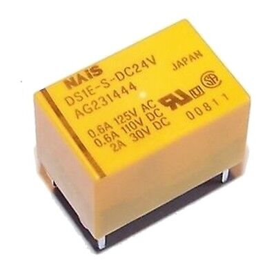 NAIS PCB Relay Coil: 24V DC Contact: 0.6A DS1E-S-DC24V
