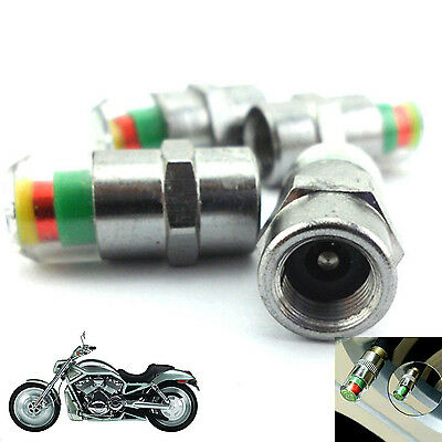 2 Pcs Motorcycle Tire Pressure Monitor Valve Stems Caps Covers Sensor For Harley
