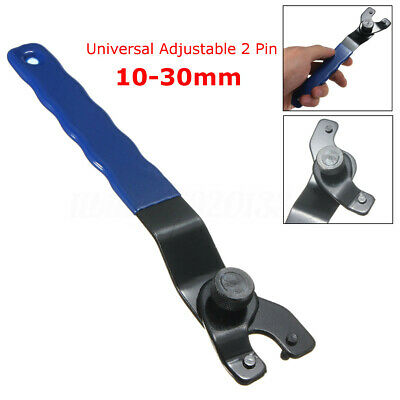 Adjustable Pin Spanner Wrench 10-30mm For Angle Grinder Hubs Arbors Heavy Duty