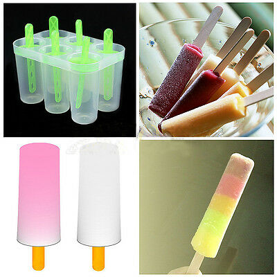 4/6 Cell Pop Popsicle Maker Lolly Mould Tray Kitchen Frozen Ice Cream DIY Mold