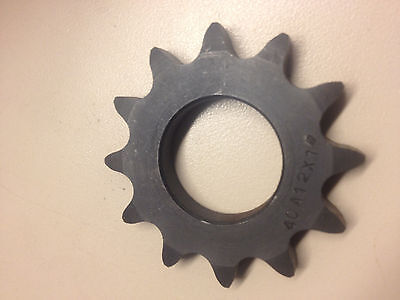 "Roller Chain Sprocket 40A12 and has a 1"" bore"