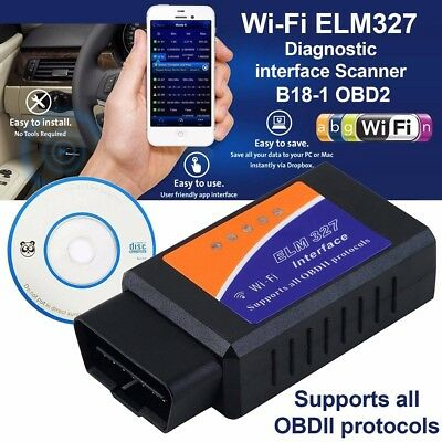 WIFI Wireless OBD2 OBDII Car Auto Diagnostic Scanner Adapter For iPhone Android