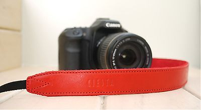 CIESTA Leather Strap CSS-L30 [Red] Shoulder Neck D-SLR RF Mirrorless Camera
