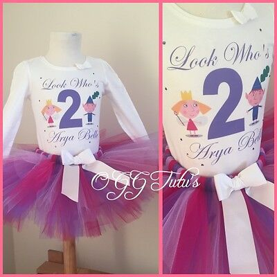 Birthday Girl Ben and Holly inspired Personalised tutu cake smash party