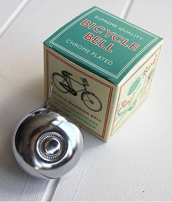 VINTAGE Chromed Bicycle BELL Retro Bike Plated Cycle TRADITIONAL Chrome Horn