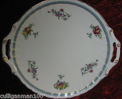 """1 - Spode Trapnell Sprays 12"""" Cake plate with handles (2016-181)"""