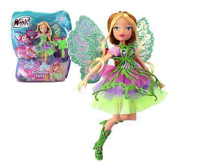 Winx Club  FLORA  Butterflix Fairy  Doll 28cm with Magic Robe by Giochi Preziosi