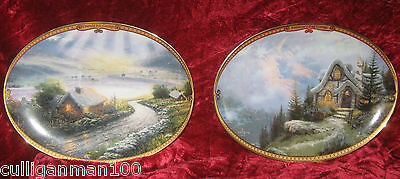 "1 - Lot of 2 ""Thomas Kinkade's Scenes of Serenity plates"" (2016-184)"