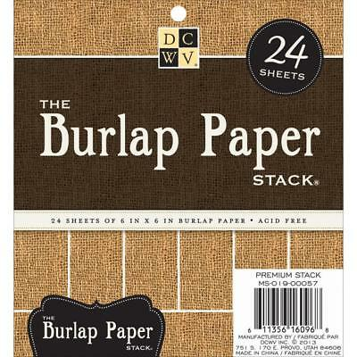 DCWV The Burlap hessian paper stack 24 sheets 6X 6 INCH ACID FREE