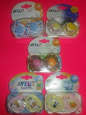 14 CHUPETES AVENT PHILIPS SILICONA BEBE pacifier baby Soother 0-3-6-18 MESES
