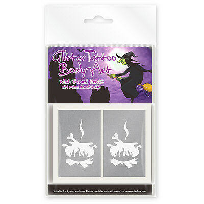 24 x Spooky Witch Themed Glitter Tattoo / Body Art Stencils! Limited Edition!