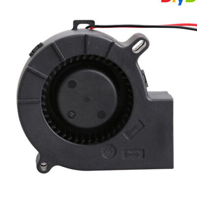 Brushless DC Blower Cooling Fan Sleeve-Bearing 7525S 12V 0.18A 75x25mm 75mm D