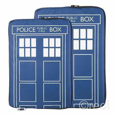 "New Doctor Who TARDIS 13"" Or 15"" Laptop Case Zip-Up BBC Official Licensed"