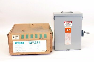 Siemens NFR321  30 Amp, 240V, Type 3R, Non-Fusible Switch