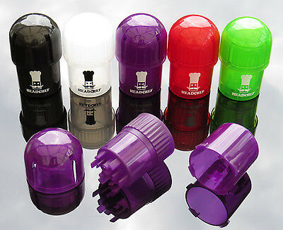 Head Chef Smell Proof Plastic Pod Grinder Stash Pot Dry Herb Crusher