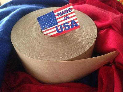 "10 Rolls of 3"" X 450ft Extra HD Reinforced Gummed  Tape Water-Activated Pkg. USA"