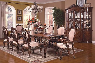 Mcferran RD0017 Dining Room Table Brown Furnishings Traditional Style