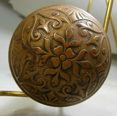 Antique Victorian Eastlake Aesthetic Movement Door Knob Bronze