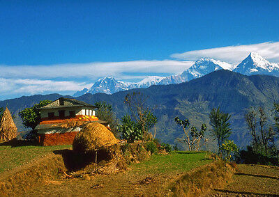 Art print POSTER / CANVAS Langtang Mountains From Nepal Village