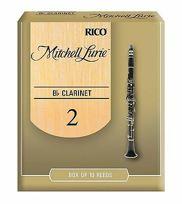 Rico Mitchell Lurie Bb Clarinet Reeds #2.0  (10-pack)