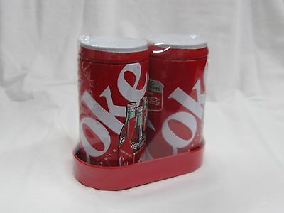 Coca Cola Tin Salt and Pepper Shaker - NEW