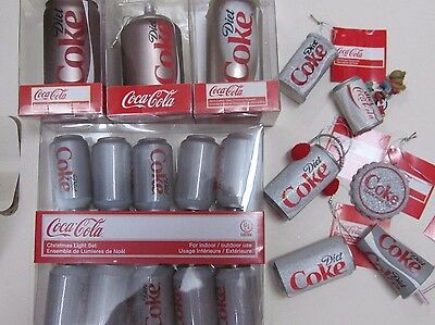 Diet Coke Ornament Lot of 10 - Kurt Adler