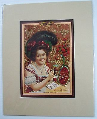 Coca-Cola Reproduction Matted Print - NEW  CC-4  FREE SHIPPING