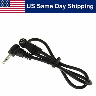 "3.5mm Plug to Male Flash PC Sync Cord Cable 12"" 12 inch for Studio Photography"