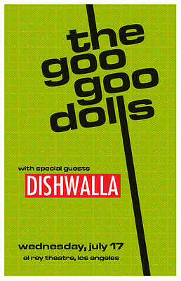 Goo Goo Dolls & Dishwalla Gig Concert Poster at the El Rey