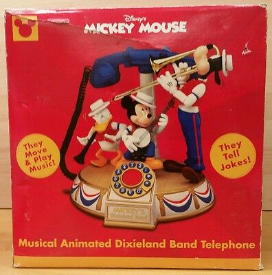 Disney Mickey Mouse Dixieland Band Animated Phone With Box and Instructions