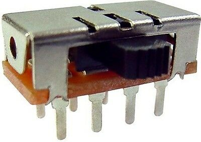 Power Side Knob Slide Switch 3 Positions 1P3T 125V 3A